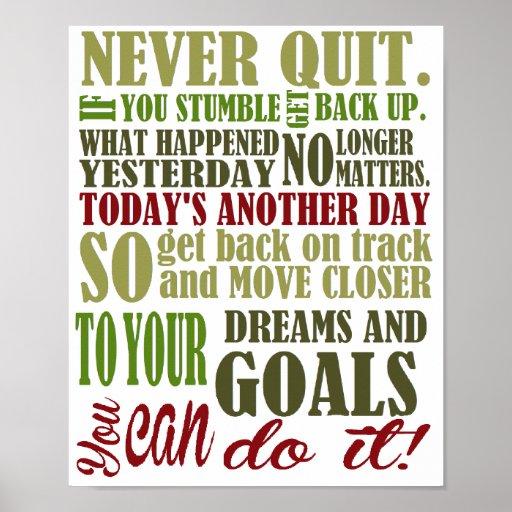 Motivational: Never Quit Poster