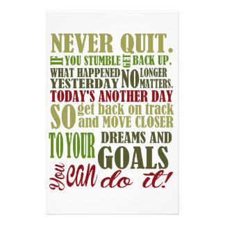 Motivational: Never Quit Stationery