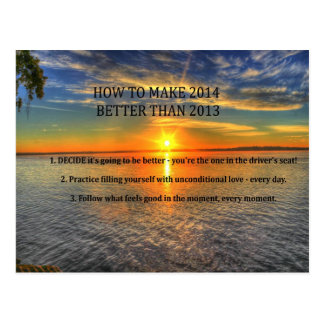 Motivational New Year Resolution Postcard