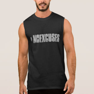 Motivational #NOEXCUSES GYM and Fitness Sleeveless Shirt