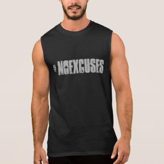 Motivational #NOEXCUSES GYM and Fitness Sleeveless Shirt