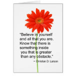 Motivational Note Card