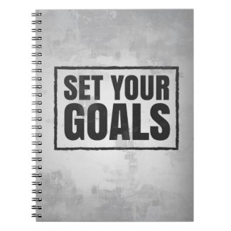 Motivational Notebook: Set Your Goals Notebook