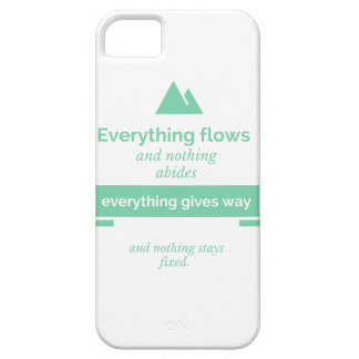 "Motivational Phone Case ""Everything flows"""