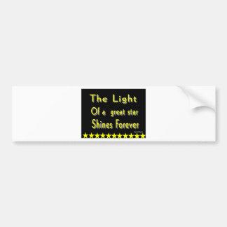 Motivational phrase car bumper sticker