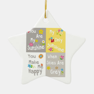 Motivational Phrases Typography - Collage Ceramic Ornament