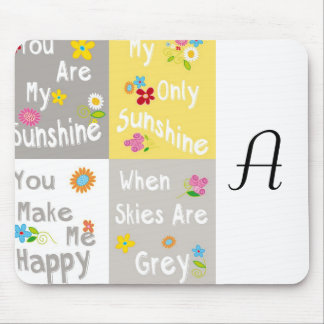 Motivational Phrases Typography - Collage Mouse Pad