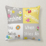 Motivational Phrases Typography - Collage Throw Pillows
