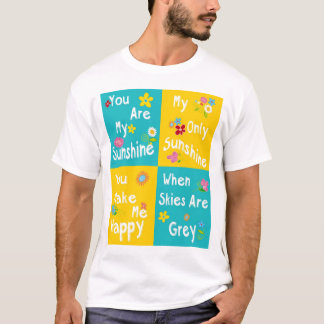 Motivational Phrases Typography - Collage T-Shirt