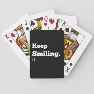 Motivational Playing Cards Keep Smiling
