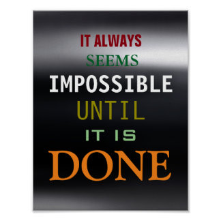 Motivational Possibility Quote Dark Grey Poster