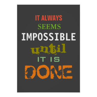 Motivational Possibility Quote Poster