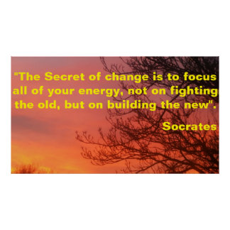 Motivational Poster about change