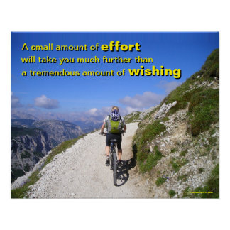 Motivational Poster about wishing vs. effort