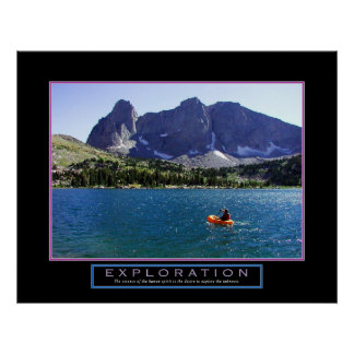 "Motivational Poster - ""Exploration"" - 22""x28"""
