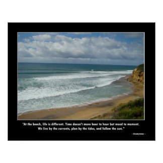 Motivational Poster - Life at the Beach