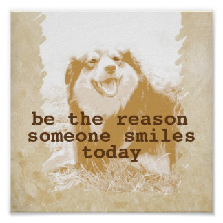 motivational poster quote with cute dog photo art
