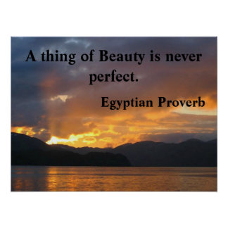Motivational Poster with Egyptian Proverb