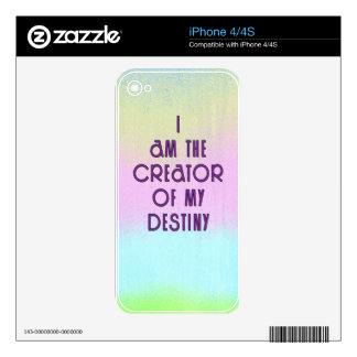 Motivational Quote about Destiny Skin For The iPhone 4