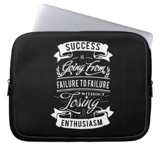 Motivational Quote about success laptop sleeve