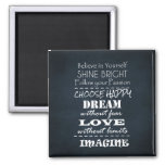 Motivational Quote Affirmations 2 Inch Square Magnet