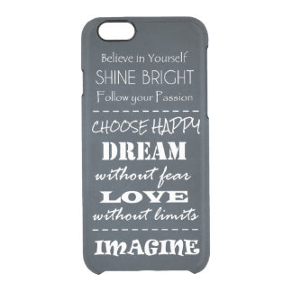 Motivational Quote Affirmations Clear iPhone 6/6S Case