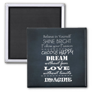 Motivational Quote Affirmations Magnet