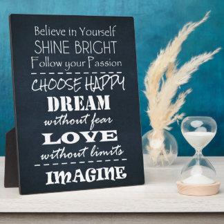 Motivational Quote Affirmations Plaque