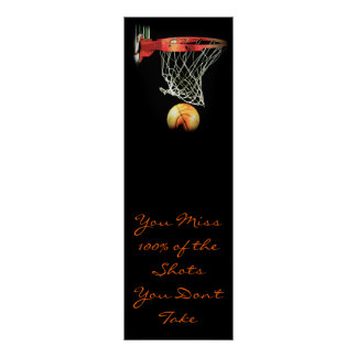 Motivational Quote Basketball Door Poster