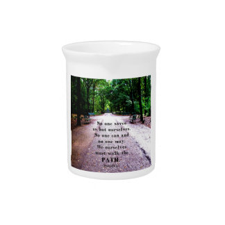 Motivational Quote Buddha inspirational Drink Pitcher