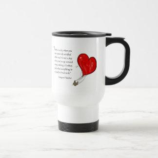 Motivational quote by Margaret Thatcher - Travel Mug