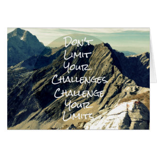 Motivational Quote: Challenge Your Limits Card