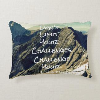 Motivational Quote: Challenge Your Limits Decorative Pillow