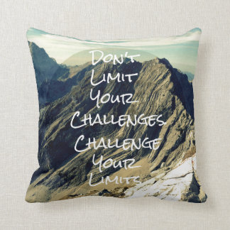 Motivational Quote: Challenge Your Limits Throw Pillow