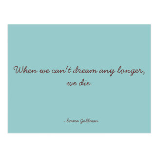 Motivational Quote - Dreaming Postcard