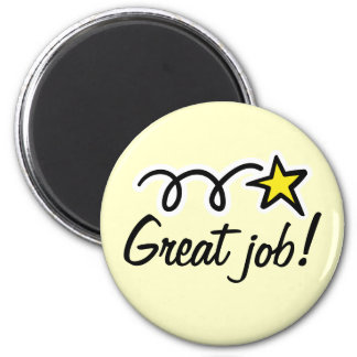 Motivational quote for thanking employees 2 inch round magnet
