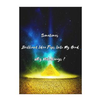 Motivational Quote Gold Canvas Print