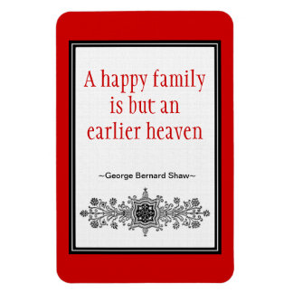 Motivational Quote Magnet :Happy Family