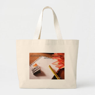 Motivational Quote-- Make Life a Magnificent Story Jumbo Tote Bag