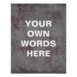 Motivational Quote Poster, distressed blue purple