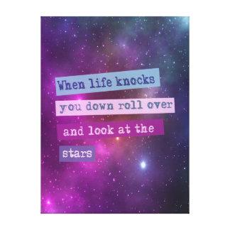 Motivational quote. Wisdom Canvas Print