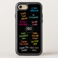 Motivational Quotes with Personal Initials - OtterBox Symmetry iPhone 8/7 Case