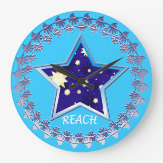 """Motivational"""" Reach for the Stars""""Wall Clock"""