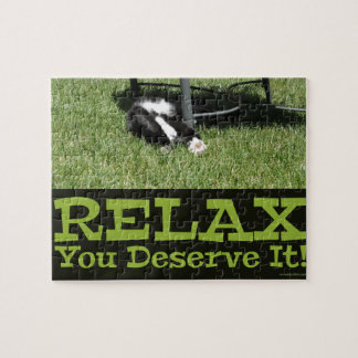 Motivational Relax Cat Jigsaw Puzzle