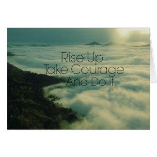 Motivational Rise Up Bible Verse Card