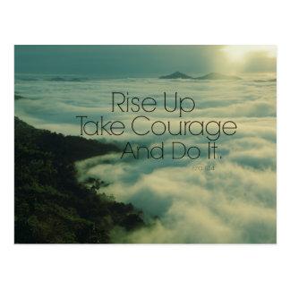 Motivational Rise Up Bible Verse Postcard