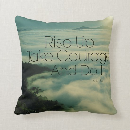 Motivational Rise Up Bible Verse Throw Pillow