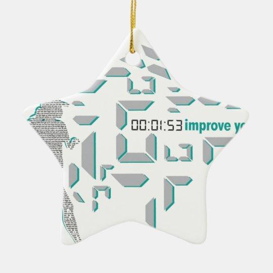 Motivational Running Ceramic Ornament