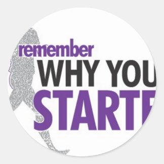 Motivational Running Classic Round Sticker