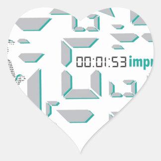 Motivational Running Heart Sticker